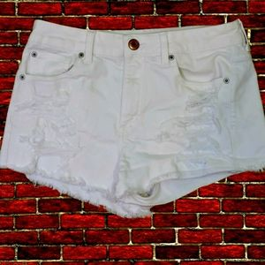American eagle white stretch hi rise shortie US 10